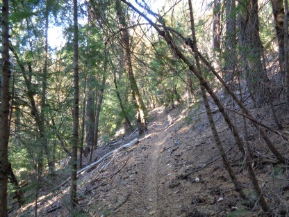 Big Boulder Trail, where we spent the night