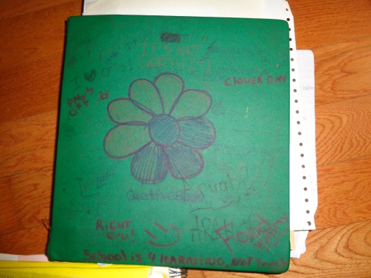 Old Binder Full of Writing