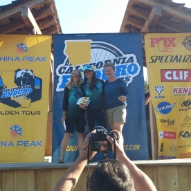 China Peak Podium: Jeni, Me, & Erica