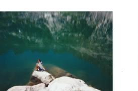 Me on an Alpine Lake