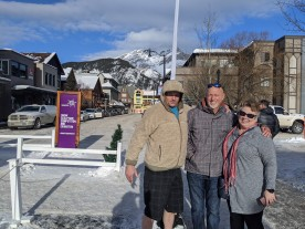 Ron, Ron Sr, & Cindy in Banff for Lunch
